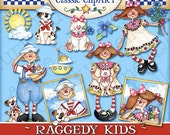 Raggedy Kids Digital Art Collection