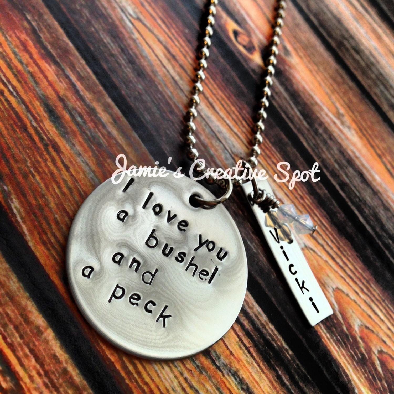 I Love You A Bushel And A Peck Necklace: I Love You A Bushel And A Peck Personalized By