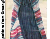 1970s LONG STRIPED COAT Vintage Crochet Pattern, Boho Jacket/Cardigan/Coverup, Hippy/Hipster/Flapper, Instant Pdf from GrannyTakesATrip 0024