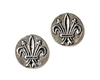 Fleur de Lis Cufflinks - Men's Jewelry - Gifts for Men - Accessories - Handmade