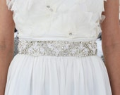 ELISE - Rhinestone Beaded Bridal Sash, Wedding Belt