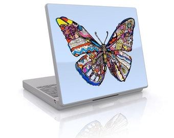 Pieced Butterfly - universal laptop skin decal