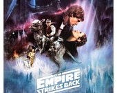 The Empire Strikes Back - Luke Skywalker Princess Leia Darth Vader 13x19  Classic Sci Fi  Movie Poster Art - Starwars Han Solo R2D2 C3PO