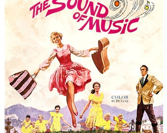 "The Sound of Music - Movie Musical Poster Print - 13""x19"" or 24""x36"" - Home Theater Media Room decor - Julie Andrews Rodgers and Hammerstein"
