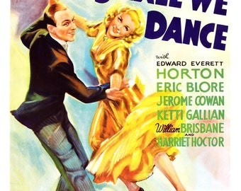 """Fred Astaire Ginger Rogers - Shall We Dance - Dance Movie Musical Poster Print - 13""""x19"""" or 24""""x36"""" - Home Theater Media Room Decor"""