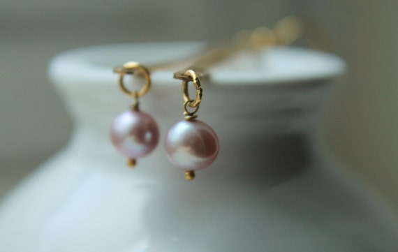 ON-HOLD. Long Pearl Earrings with 14k Gold. Gold Earrings. Hammered Pearl Earrings. Long Gold Earrings.