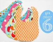 Baby Bibs - Set of 6 Custom Drooler bibs