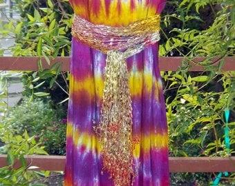 Flowing Colors Purple Dress