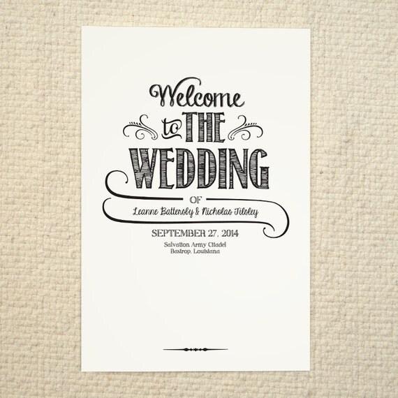 Diy Wedding Program Order Of Service By Amyadamsprintables