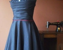 short wedding dress, 1950's vintage style dress. Perfect for brides or bridesmaids, prom / formal dress