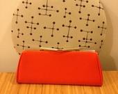 1960s Bright Orange Envelope Clutch