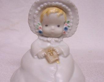 Baby Christening Figurine Enesco Kinka 1980s Original Box Kinka