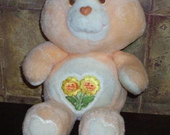 Original 1983 Friendship Bear Care Bear Doll- by Kenner