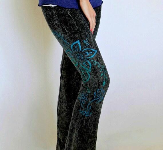 Women's Yoga Pants Pick The Design: Peacock Feather Tree