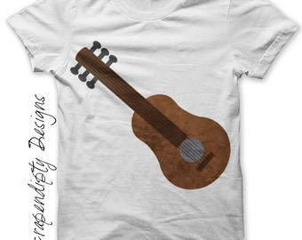Guitar Iron on Transfer - Music Iron on Shirt PDF / Kids Guitar Shirt / Toddler Hippie Tshirt / Boys Musical Printable / Mens Music IT199-R