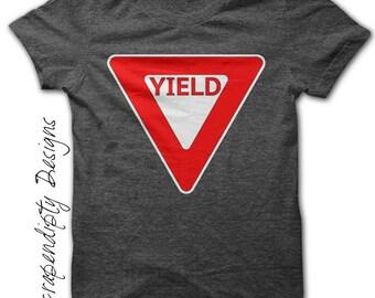 Yield Iron on Transfer - Iron on Car Shirt PDF / Boys Cars Birthday Tshirt / Kids Boys Clothing Tops / Car Toddler Clothing IT63-P