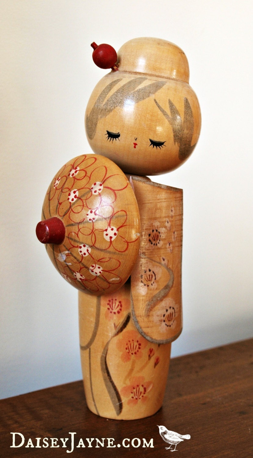 Kokeshi Doll Vintage Japanese Wood Doll