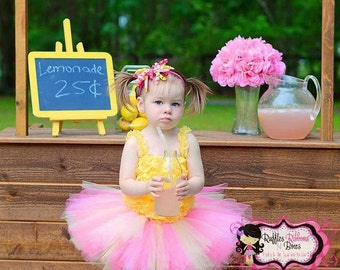 Pink and Yellow Tutu, 1st Birthday Outfit, Custom Tutu, Tutu, First Birthday Tutu, Baby Tutu, Newborn Tutu, 1st Birthday Tutu, Toddler Tutu