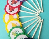 Brown Bear, Brown Bear Cupcake Toppers Eric Carle Kids Birthday Party