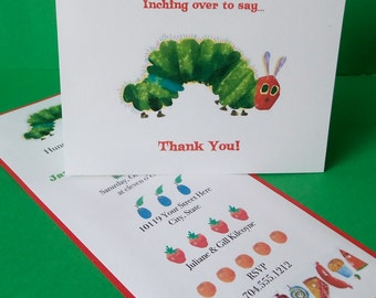 Very Hungry Caterpillar Thank you Note