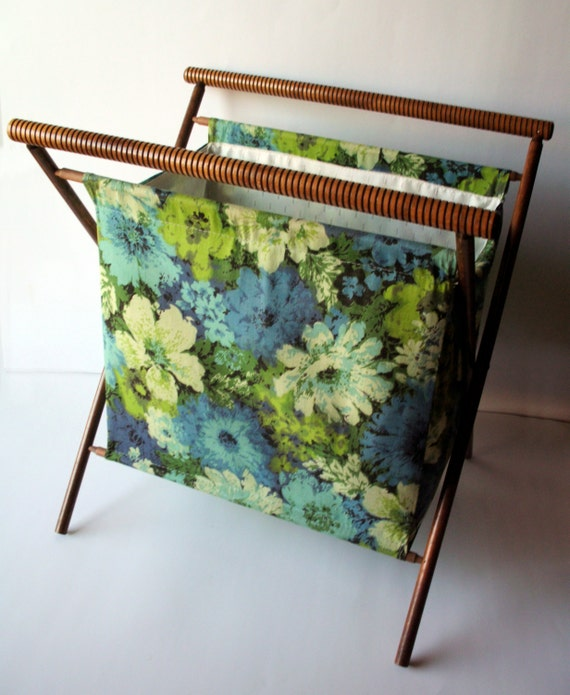 Vintage Folding Knitting Basket : Vintage folding knitting needlework basket tote by