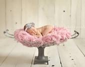 Dreamy Grey and Light Pink Shabby Pearl Headband - Unikbaby