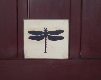 Dragonfly Silhouette Wall Hanging