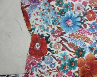Leather 6 to 6.5 sq ft Floral Print Deerskin THIN SOFT hide 1.5-2oz/.6-.8 mm PeggySueAlso LIMITED