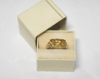 Citrine 10k Yellow Gold Ring - Vintage - 1950s