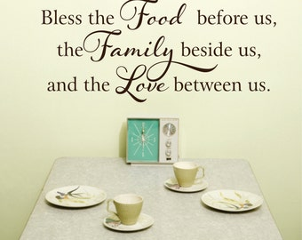 Kitchen Wall Decal - Kitchen Decor - Kitchen Signs -  Bless this Food Wall Decal  Before Us  Vinyl Wall Decal - Kitchen Decor Wall Art