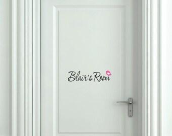 Wall Decals-Girls Room Door Decal- Small Decal - Name Wall Decal - Wall Art- Home Vinyl Wall Decals