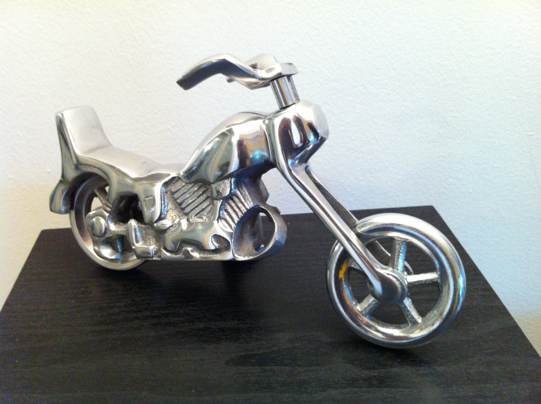 harley davidson sculpture motorcycle chopper bike metal. Black Bedroom Furniture Sets. Home Design Ideas