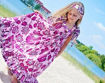 Helen's Tween Maxi Dress PDF Pattern size 7/8 to 15/16 girls