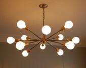 "Mid-Century ""Sputnik"" inspired chandelier."