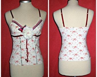 etsy468  ooak Burlesque  vintage top....