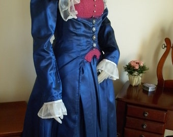 Historical Victorian Gown--- 3 piece Set Includes Skirt, Bustier and Jacket--- Custom, Made To Order