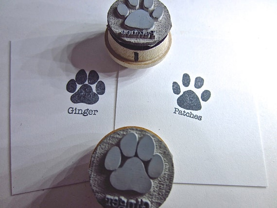 Personalized Dog Paw Cat Paw Print Silhouette By Etchythings