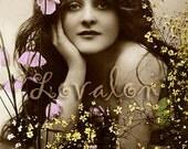 MATURE. . . Garden Goddess . . . Digital Download... Vintage Nude Photo Image by Lovalon