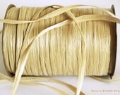 Wheat Raffia Ribbon - 30/100 yards - 1/4 inch wide