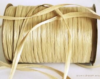 SALE Wheat Raffia Ribbon - 30/100 yards - 1/4 inch wide