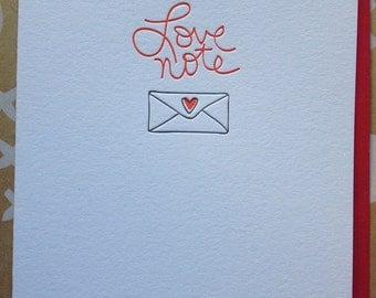 Love Note - Letterpress Card