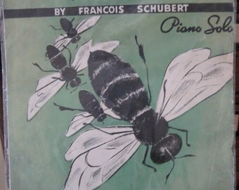 """Antique The Bee (""""L'Abeille"""") by Francois Schubert) Sheet Music"""