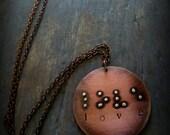 Braille Love Pendant - Custom Braille Necklace