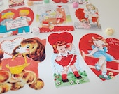 Valentine Retro Cards Gift Tags Scrapbook Valentine CutOuts Bookmarkers Party Favors Vintage Inspired RETRO COLLECTION SET 3