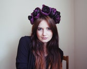 Impulse - purple and black floral crown/murMur