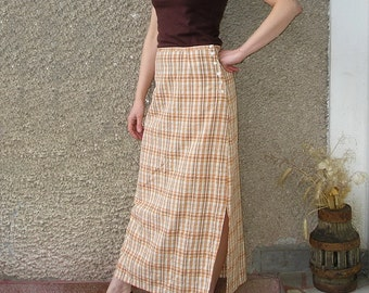 Vintage summer maxi skirt, size M, ON SALE