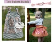 Apron Knot Dress and Simple Skirt PDF Two Pattern Bundle