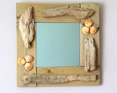 Driftwood Wall Mirror 16.5inch Square
