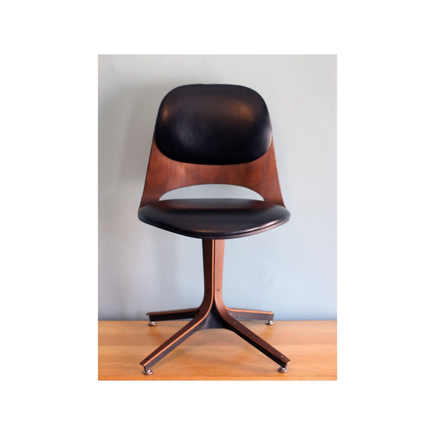 Plycraft Swivel Desk Chair Mid Century Modern By TheArbitrarium