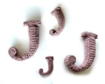 Crochet letter Etsy